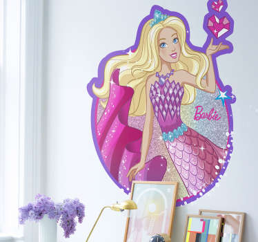 Adhesivo Barbie princesa sirena