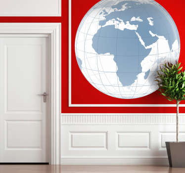 Another creative stickers of the world but this time with the European and African continent with a transparent effect.