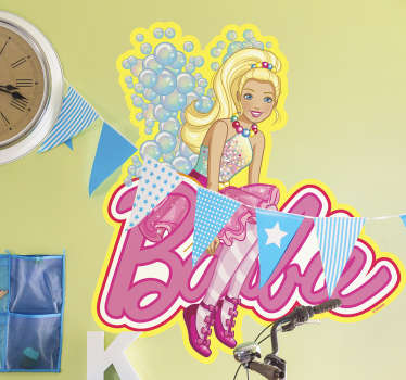 Adesivo Barbie com bolhas