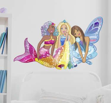 Adesivo da parede Barbie acompanhada