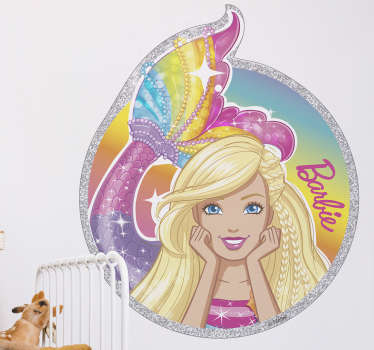 Vinil decorativo infantil sereia Barbie