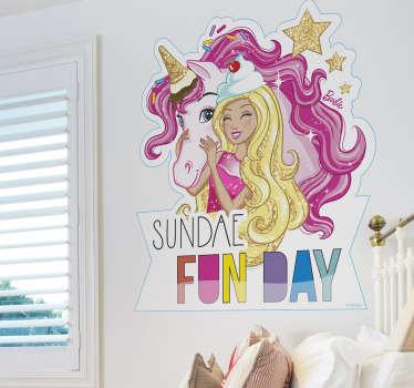 Vinilo Barbie unicornio Sweetville