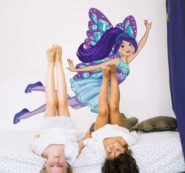 Pegatinas Barbie mariposa violeta