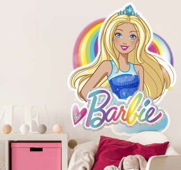 Autocolante parede infantil Barbie Dreamtopia