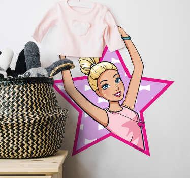 Pegatina Barbie bailarina
