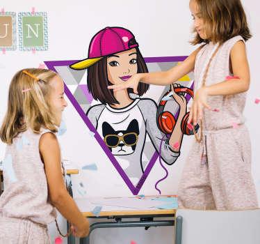 Adesivo de parede Barbie DJ