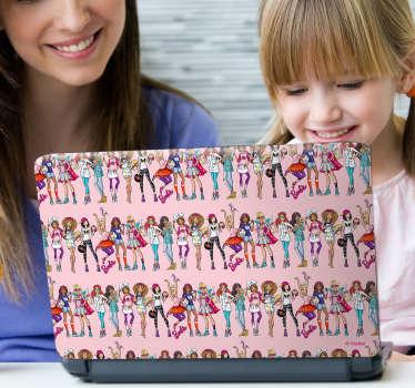 Vinilo para portátil Barbie profesiones