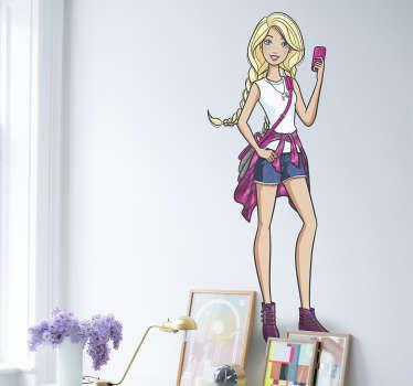 Adhesivo Barbie modelo