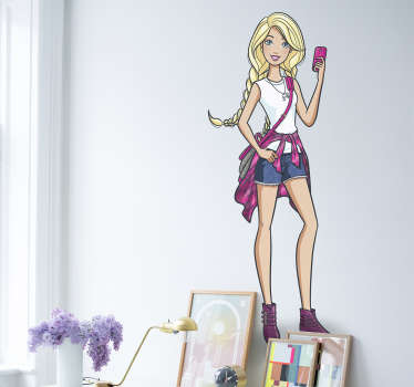 Adesivo de parede Barbie modelo