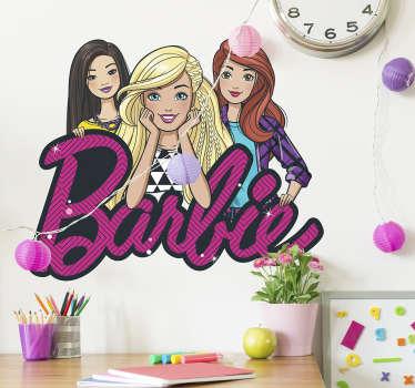 Adesivo de parede Barbie e amigas