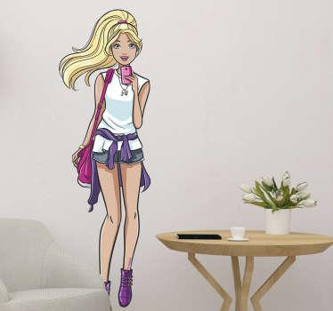 Pegatinas decoración Barbie fashion
