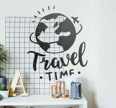 World Round Trip Wall Sticker