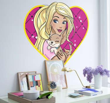 Adesivo de parede Barbie coração