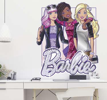 Vinilo decorativo Barbie fashionista