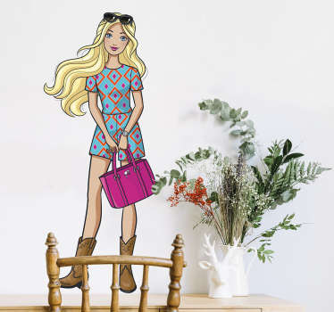Vinil decorativo da Barbie Fashionista