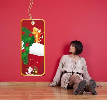 Adhesivo etiqueta regalo navidad