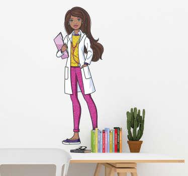 Adesivo Barbie morena doutora