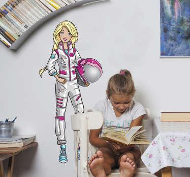 Adesivo de parede Barbie astronauta