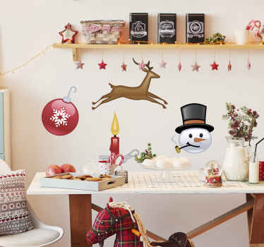 A collection of Christmas decals for your home! Brilliant sticker to decorate your home and give it a personalised touch!