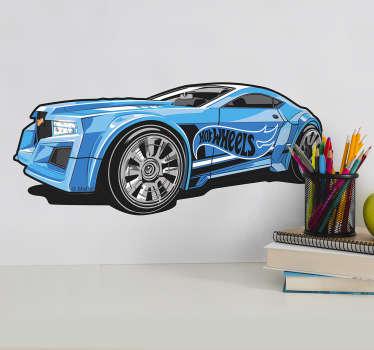 Sticker Hot Wheels coche azul