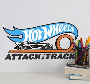 Sticker pistas Hot Wheels logo