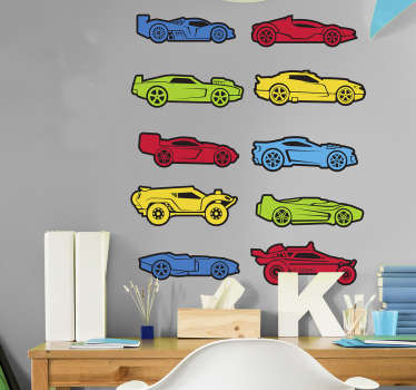 Stickers Hot Wheels coches