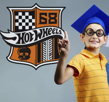 Stickers Hot Wheels escudo