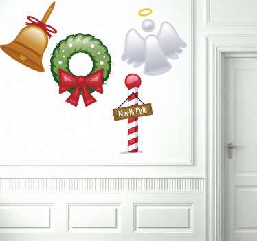 Sticker set autocollants Noël