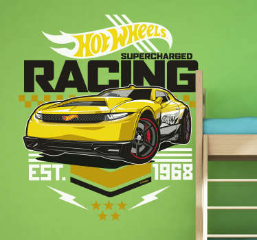 Vinilo Hot Wheels supercharged racing