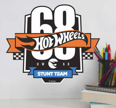 Vinilos retro Hot Wheels stunt team