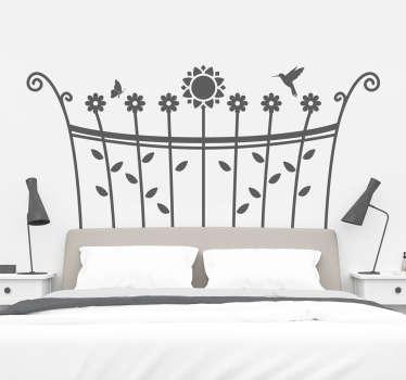 Vinilo cabecero de cama primavera