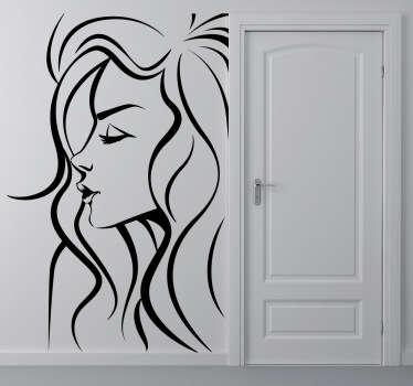 Adhésif monochrome mural femme