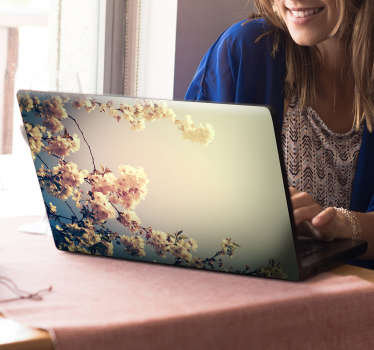 Laptop sticker bloemen lente