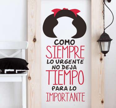 Vinilo Mafalda cita