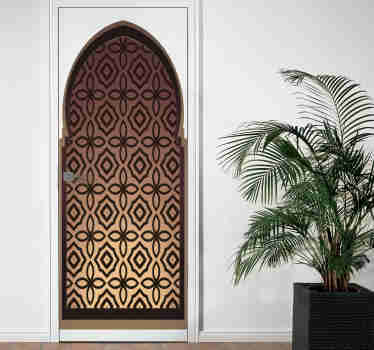 Magnificent decorative sticker for doors depicting a door in oriental style. The perfect product to decorate the doors of your home.