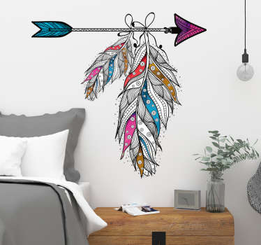 Sticker Mural plumes chambre