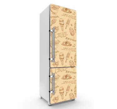 Autocolante para frigorífico gelados vintage