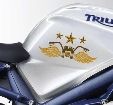 Pegatinas moto de aspecto retro, ideales para darle un toque distinguido al depósito y decorar tu vehículo como más te gusta.