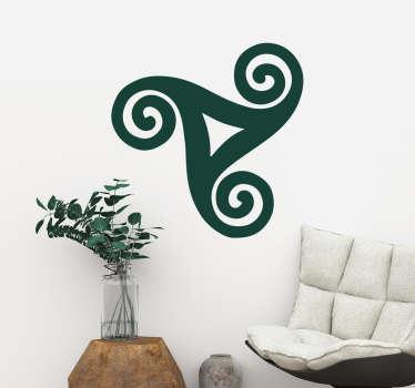 Sticker Mural triskel celte