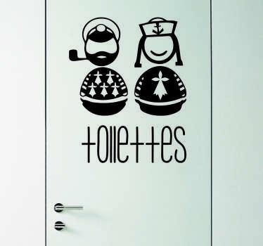 Sticker toilettes breton