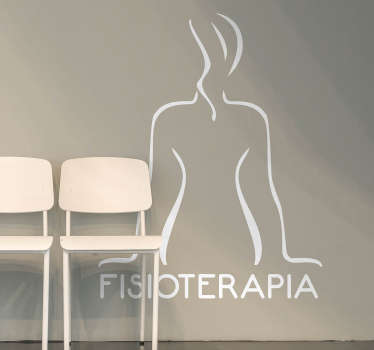 Vinilo decorativo fisioterapia