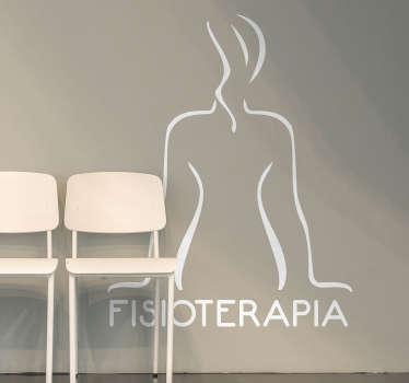 Vinilo decorativo fisioterapia