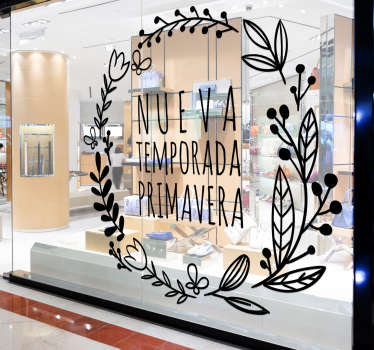 Decorative shop front window sticker to decorate for spring summer sales. It is available in any size needed and it application is easy.