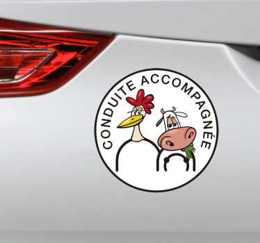 Sticker conduite accompagnée drôle