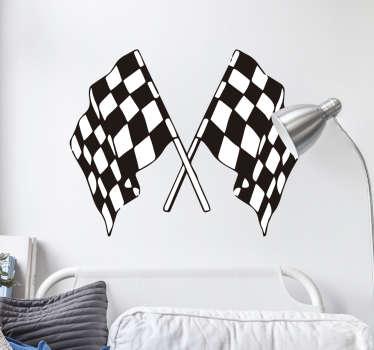 Vinilo decorativo banderas de carrera