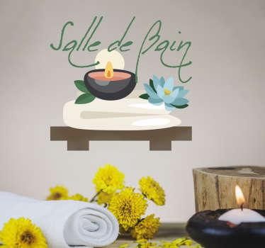 Sticker salle de bain zen