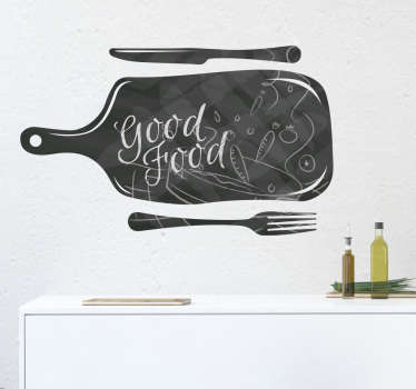 Krijtbord sticker keuken