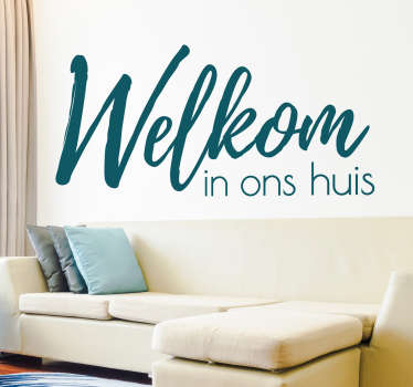 Welcome text home wall sticker to decorate the home in style. Buy it in nay required size needed. It is customisable in suitable colours options.