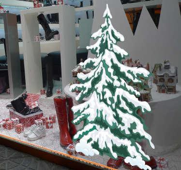 Vinilo decorativo árbol nevado