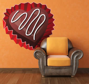 Valentine's Day Chocolate Heart Wall Sticker